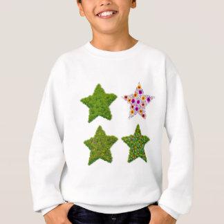 Gras geformter Stern Sweatshirt