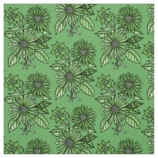 Gras-Grüner Blumenstrauß Stoff