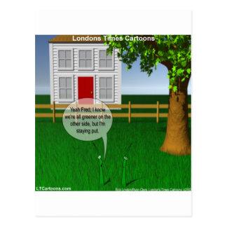 Gras-Grüneres auf anderer Seite lustig Postkarte