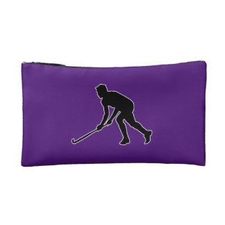 Gras-Hockey-Spieler Makeup-Tasche
