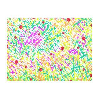 Gras mit Mohnblumen-abstrakter Collage Leinwanddruck