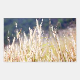 Gras Rechteckiger Aufkleber
