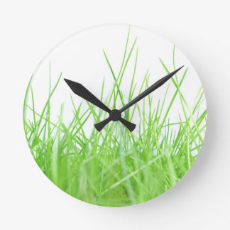 Gras Runde Wanduhr