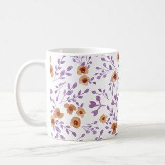 Grasland-Blumen - Watercolor-Mit Blumenlila Kaffeetasse