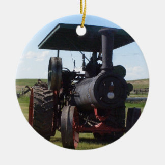 Grasland-Dampf-Traktor Keramik Ornament