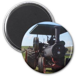 Grasland-Dampf-Traktor Runder Magnet 5,7 Cm