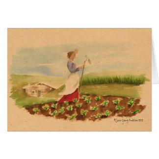 Grasland-Frauen-Gruß-Karte
