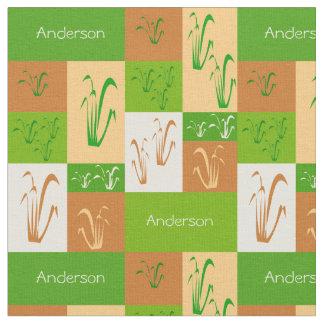 Grasland-Gras-Namen-Gewebe Stoff