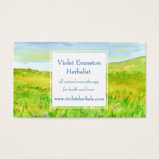 Grasland-Gras-Wildblume-Wiese Kräuter Visitenkarte