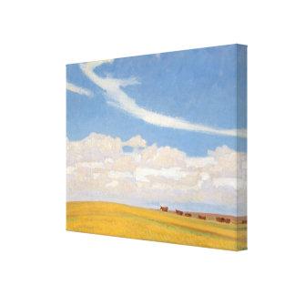 Grasland nach Sturm durch Maynard Dixon, Vintage Leinwanddruck