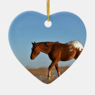 Grasland-Pferd Keramik Ornament