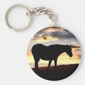 Grasland-PferdeFotokunst Schlüsselanhänger