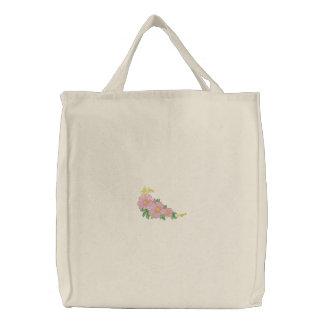 Grasland-Rose Bestickte Tasche