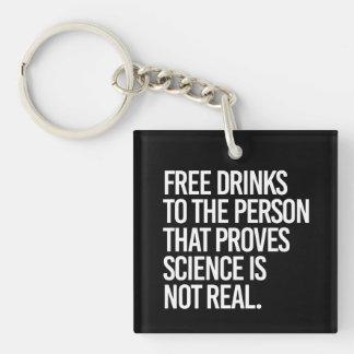 Gratis Getränke für die Person, die prüft, dass Schlüsselanhänger