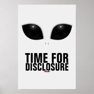 Grau-Alien Augen-Freigabeplakat Poster