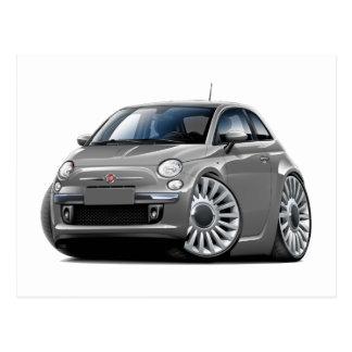 Grau-Auto Fiats 500 Postkarte