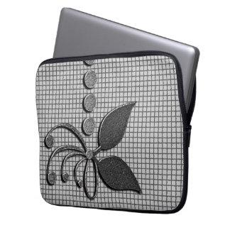Grau gemustert laptop sleeve