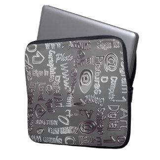 Grau gemustert laptopschutzhülle