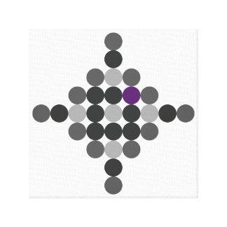Grau + Lila geometrische Kunst Leinwanddruck