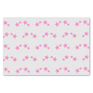 Grau mit Pinksternen Seidenpapier