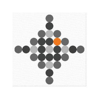 Grau + Orange geometrische Kunst Leinwanddruck