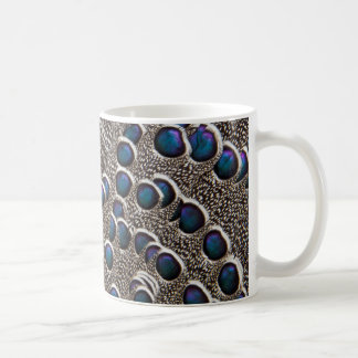 Grau Pfau-Fasan Feder abstrakt Kaffeetasse