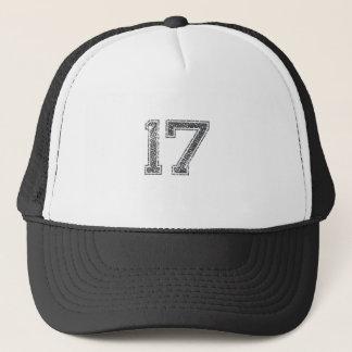 Grau trägt Jersey #17 zur Schau Truckerkappe