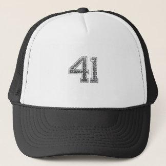 Grau trägt Jersey #41 zur Schau Truckerkappe