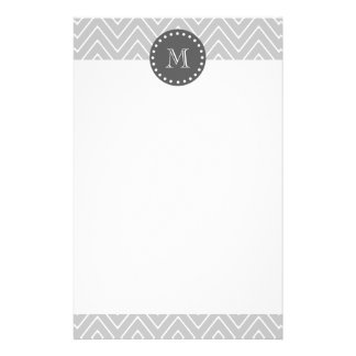 Grau-u. Holzkohlen-modernes Zickzack Briefpapier
