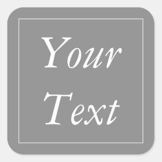 Grau u. Weiß dankt Ihnen Geschenk-und Quadratischer Aufkleber