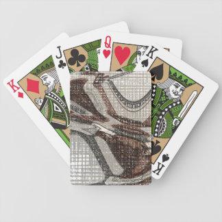 Grau und abstrakte Kunst Browns Bicycle Spielkarten