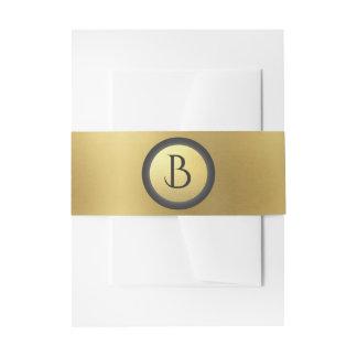 """""""Grau-und Gold"""" mit Monogramm stationäres Einladungsbanderole"""