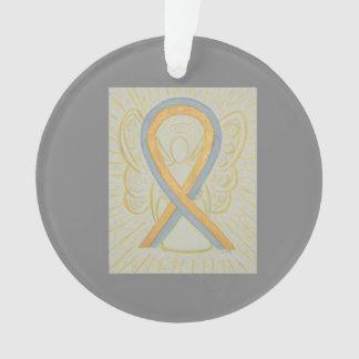 Grau und Goldbewusstseins-Band-Engels-Verzierungen Ornament