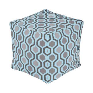 Grau und Türkis-modernes geometrisches Kubus Sitzpuff