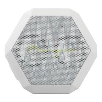 Grau unscharfer Zickzack personalisiert namentlich Weiße Bluetooth Lautsprecher