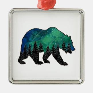 Graubär-Gebiet Silbernes Ornament
