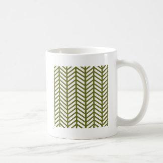 Graubraune grüne Zickzack Ordner Kaffeetasse