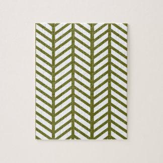 Graubraune grüne Zickzack Ordner Puzzle