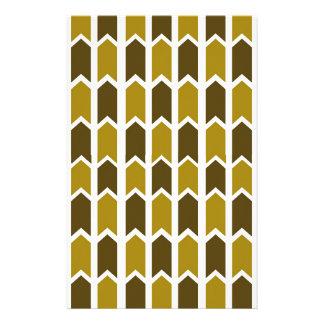 Graubrauner grüner Platten-Zaun Briefpapier