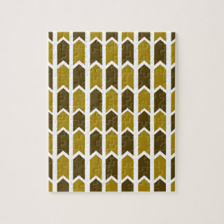 Graubrauner grüner Platten-Zaun Puzzle