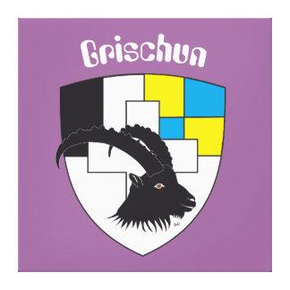 Graubünden Grigioni Grischun Leinwand