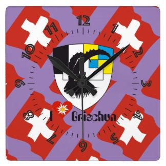 Graubünden Grischun Grigioni Schweiz Svizra Uhr