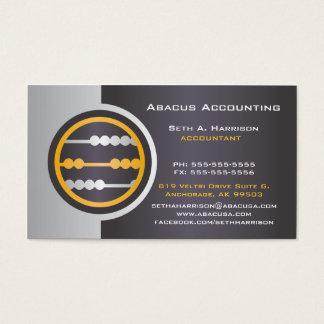 Graue Abakus-Buchhaltungs-Visitenkarten Visitenkarte