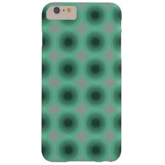 Graue Abdeckung mit zwei tadellosen grünen weichen Barely There iPhone 6 Plus Hülle