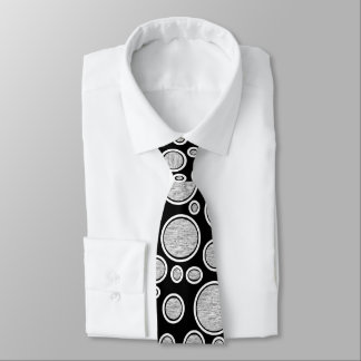 Graue Blasen Krawatte