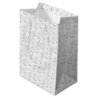 Graue Blumengeschenk-Tasche Mittlere Geschenktüte