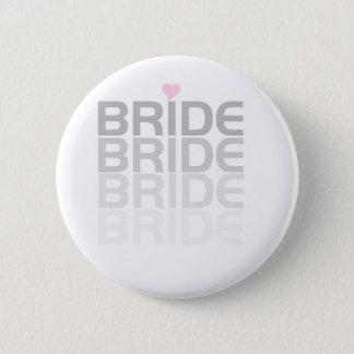Graue Braut verblassen Runder Button 5,1 Cm