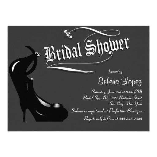 Graue Brautparty-Einladungen