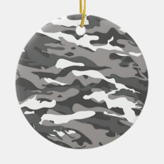 Graue Camouflage Keramik Ornament