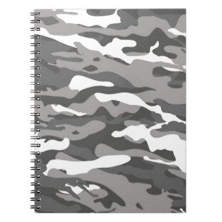 Graue Camouflage Notizblock